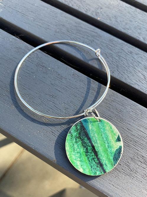 Natural Green adjustable bangle
