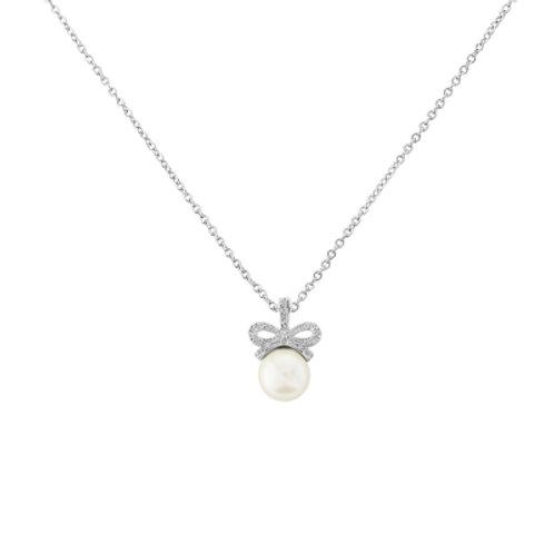 Zara crystal bow necklace