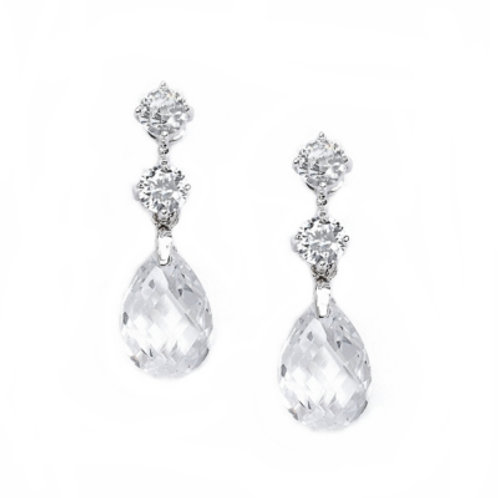 Megan cubic zirconia drop earrings