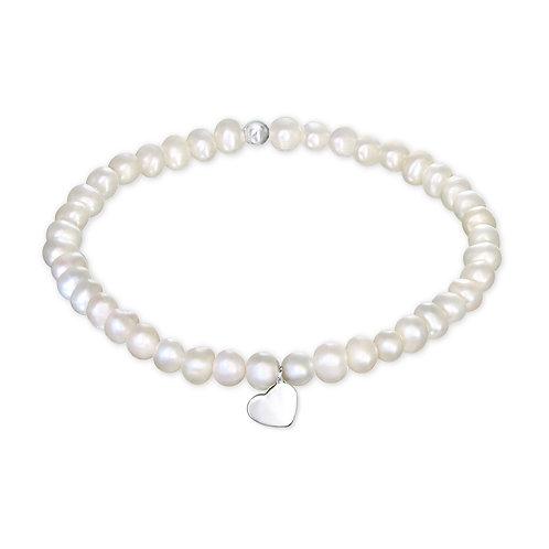 Pearl & Silver Bracelet