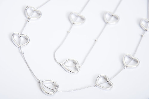 Multi-row Heart Necklace