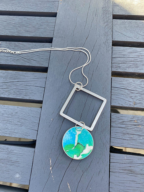Turquoise Coffee Pod Necklace