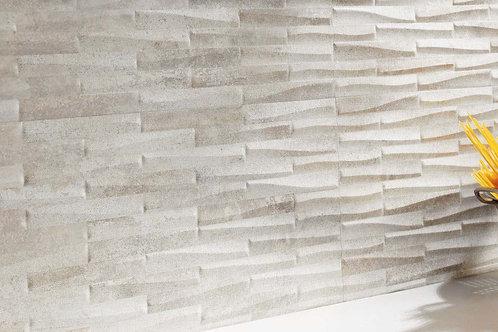 Castlestone White Muretto 30x60 Struttura 3D