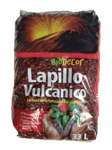 Lapillo vulcanico rosso 10/18 mm sacco 33 lt