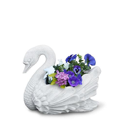 Statua portavaso Cigno bianco
