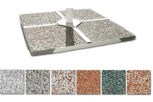 Piastra cemento graniglia 40x40 - 50x50 base ombrellone