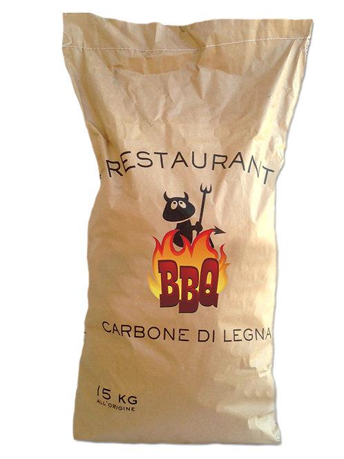 Carbonella di Legna sacco da 15 kg per Barbecue e Griglia