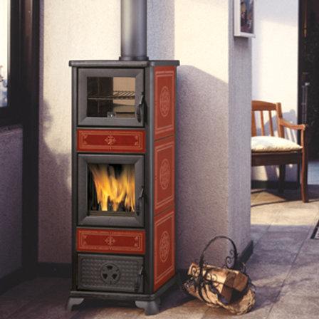 Italiana Camini Dafne 7 kW stufa legna con forno