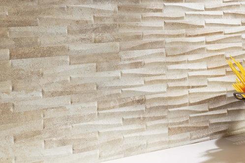 Castlestone Almond Muretto 30x60 Struttura 3D