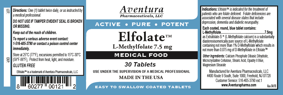 Elfolate 7.5mg Label