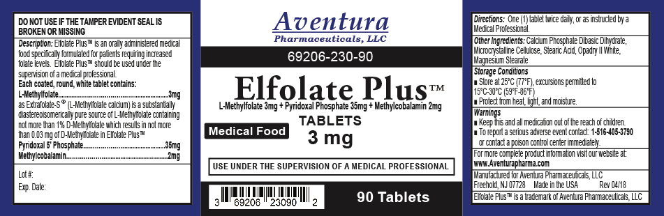 ELFOLATE PLUS 3 MG Label