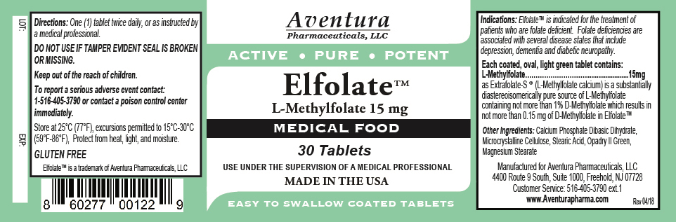 Elfolate 15mg Label