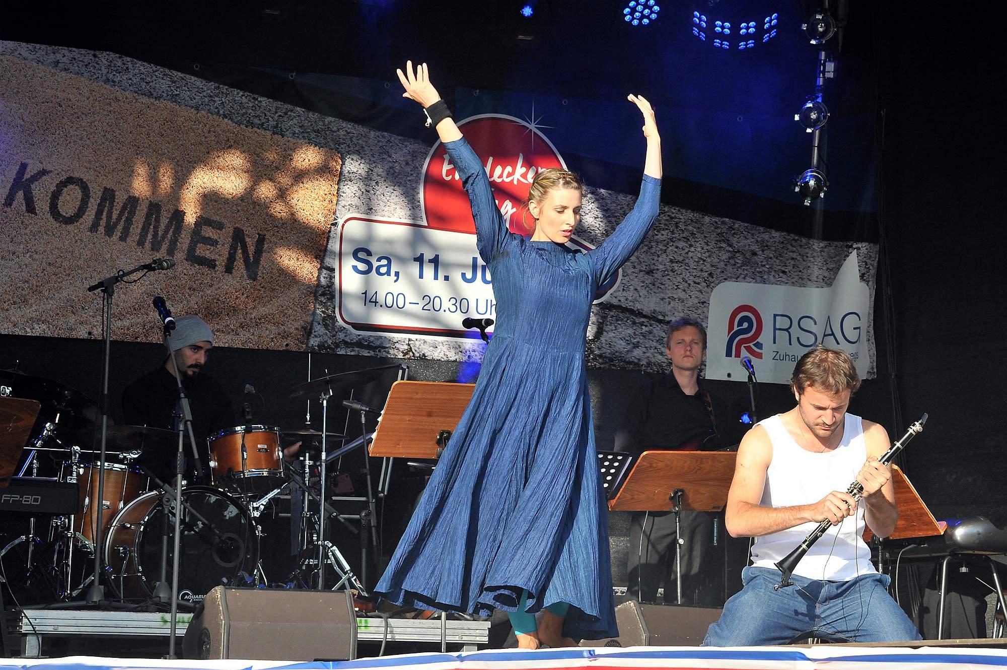 Performance in Rostock, Deutschland