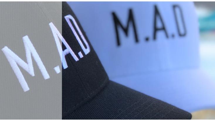M.A.D HAT - BLACK & WHITE