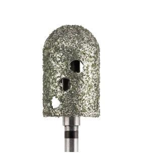 Фреза алмазная, колпачок, каплевидная, Ø 9,5 мм с суперкрупной зернистостью
