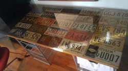 Elizabeth Haggard Table License Plates 2