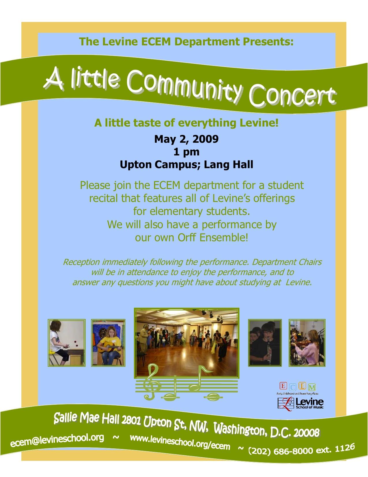 Levine Community Concert