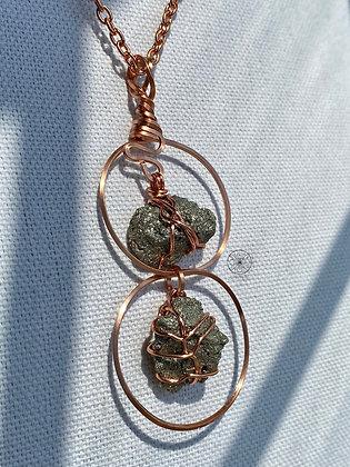 Pyrite Copper Infinity Pendant