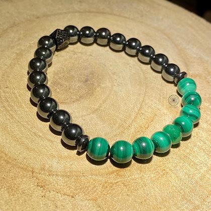 Malachite Hematite Bracelet