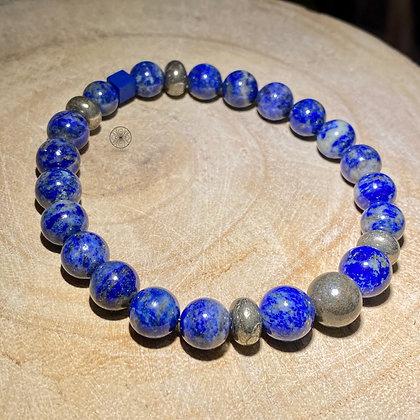 Lapis Pyrite Bracelet