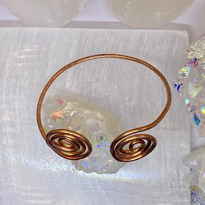 Copper Swirl Bangle