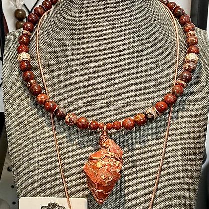 Red Jasper Copper Choker