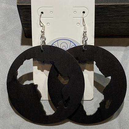 Africa Circle Earrings Large