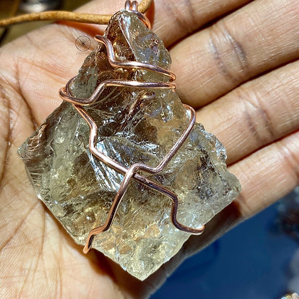 Smokey Quartz Copper Pendant