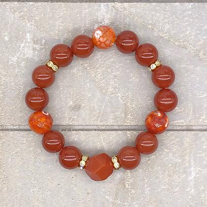 Carnelian Agate Stretch Bracelet