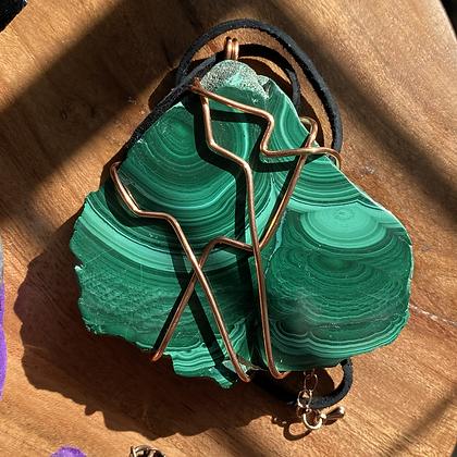 Malachite Copper Pendant
