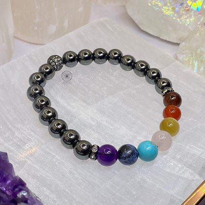 7 Chakras Hematite Bracelet