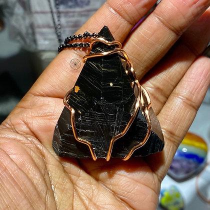 Black Tourmaline Pyramid Pendant