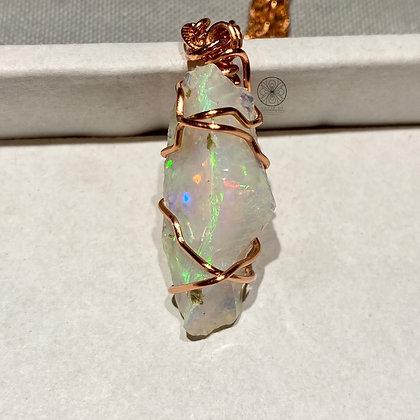 Ethiopian Welo Fire Opal Pendant