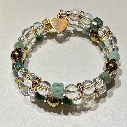 Emerald Gold Pavé Wrap Bracelet