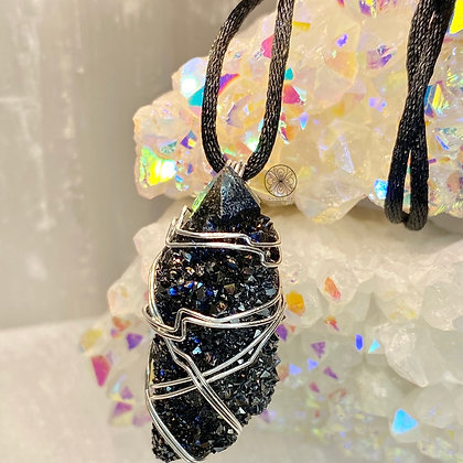 Black Knight Aura Sterling Silver Pendant