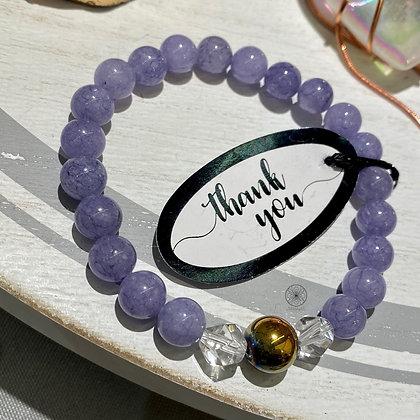 Angelite Rainbow Hematite Bracelet