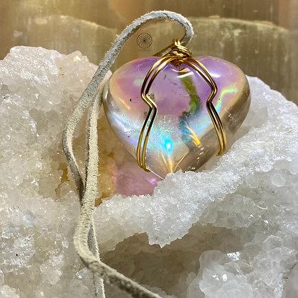 Angel Aura Optical Quartz Heart