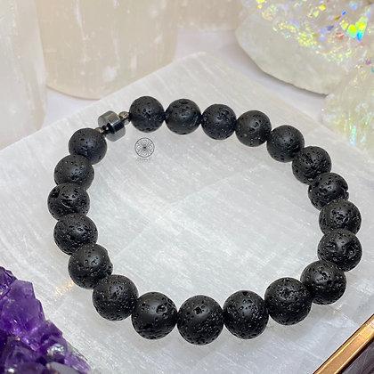 Lava Rock Hematite Aroma Bracelet