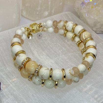Magnesite Pearl Wrap Bracelet
