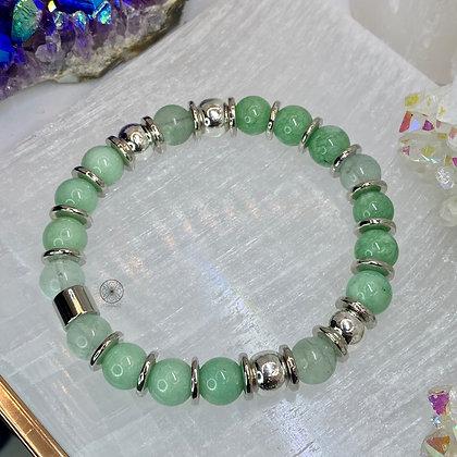 Mint Quartzite Fluorite Bracelet