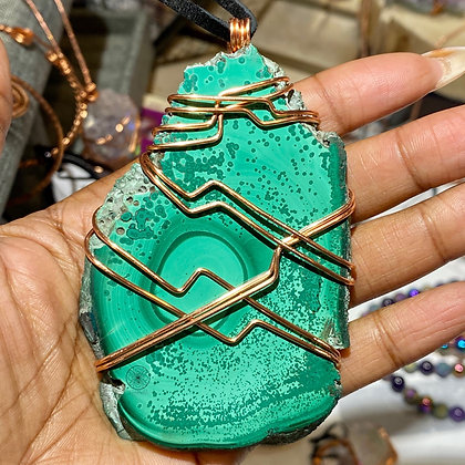 Malachite Copper Pendant