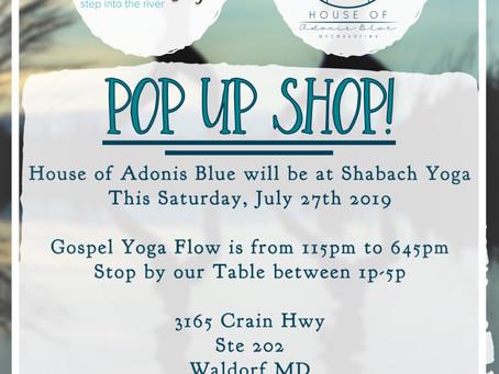 Pop Up Shop at Shabach Yoga!