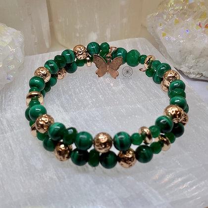 Malachite Jade Wrap Bracelet