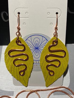 Pistachio & Copper Earrings