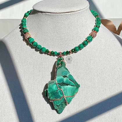 Malachite Jade Copper Choker