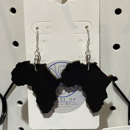 Africa Silver Earrings Small