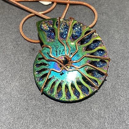 Rainbow Titanium Ammonite