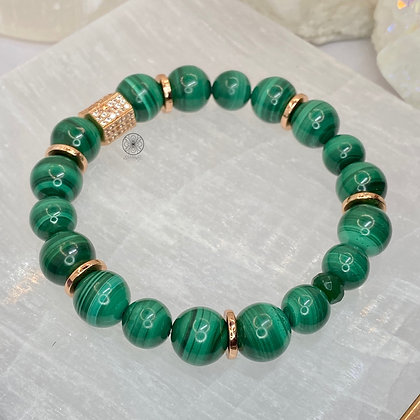 Malachite Copper Pavé Bracelet