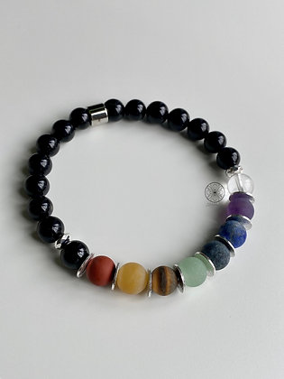 7 Chakras Black Tourmaline Bracelet