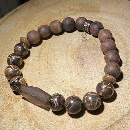 Agate Wood Bracelet